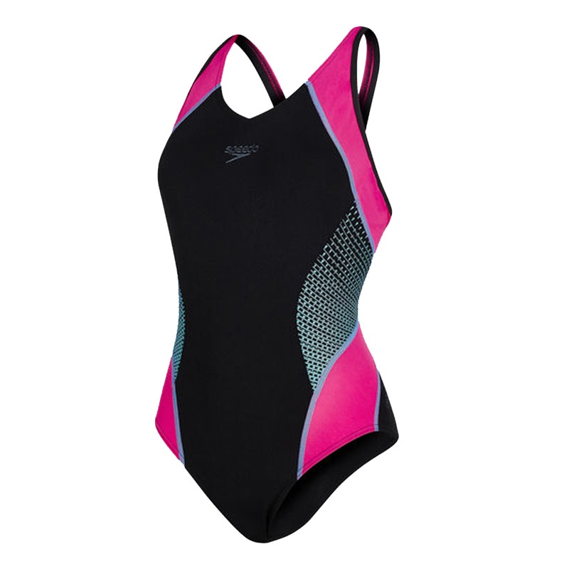 Speedo Fit Splice Muscleback Roze